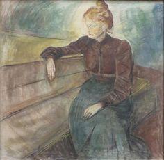 Dameportræt (Akvarel) by Edvard Munch, Bergen Kunstmuseum.