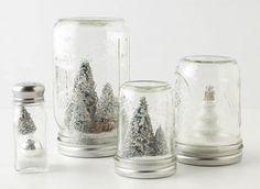 Globos de nieve de navidad caseros