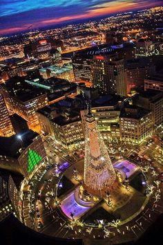 Monument Circle, Indianapolis, Indiana, USA