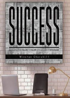 """""""success is walking from failure to failure with no loss of enthusiasm."""" Motivational images for life. Motivational Images, Inspirational Quotes, Hustle Quotes, Winston Churchill, Motivate Yourself, Life Images, Office Decor, Encouragement, Poster Prints"""