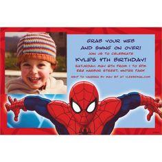 Custom Ultimate Spider-Man Photo Invitations