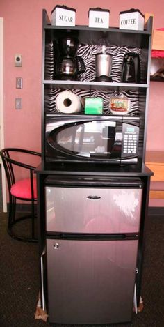 microwave coffee mini fridge stand for my office at work home ideas pinterest mini. Black Bedroom Furniture Sets. Home Design Ideas