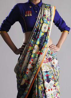 New Designer Soft Silk Saree - Indian Fashion Ideas Trendy Sarees, Stylish Sarees, Anarkali, Churidar, Lehenga, Dhoti Saree, Saree Draping Styles, Saree Styles, Indische Sarees
