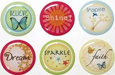Epoxy Stickers Inspirational 6 1 by SlipsCreativeSweets on Etsy, $7.00