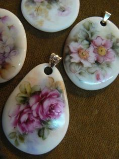 This has no link... It was listed under polymer clay... I never thought of painting on pieces like broken china - Duh! :)