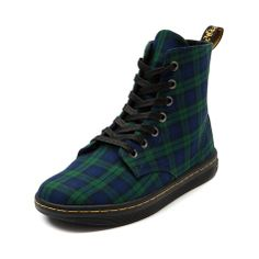 Shop for Womens Dr. Martens Hackney 7-Eye Boot in Green Blue at Journeys Shoes. Shop today for the hottest brands in mens shoes and womens shoes at Journeys.com.Just a wee bit glad to be plaid, its the Scottish-clad Dr. Martens Hackney 7 Eye Boot. Part of the Dr. Martens Eclectic collection, this lace-up womens ankle boot is constructed from a soft textile upper, featuring an EVA footbed for extended comfort, signature air-cushioned sole, and slip-resistant rubber bottom. ORDER IN YOUR…