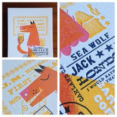 Albert & Marie for Oakland Illustrated: A letterpress collaboration by The Weekend Press.