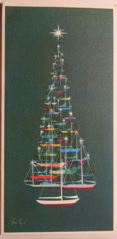 Wow - Unique - Christmas tree boats