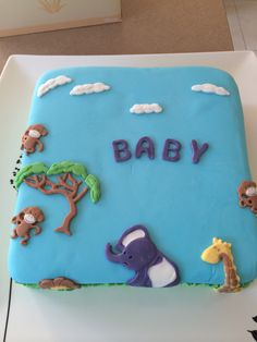 Gens baby shower cake