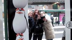 Take a #pingfie and dance to some tunes from the movie Penguins of Madagascar. All this while you wait for the tram in the center of Helsinki. December 2014
