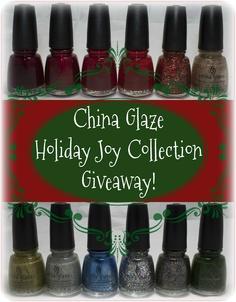 Samarium's Swatches: China Glaze Holiday Joy Giveaway!