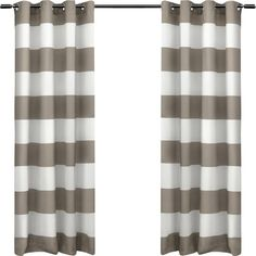 Features:  -Set includes: 2 curtain panels.  -Spot clean and/or hand wash.  -Recommend ordering 2 to 3 times rod width for proper look and fullness.  Product Type: -Panel pair.  Pattern: -Striped.  Ma