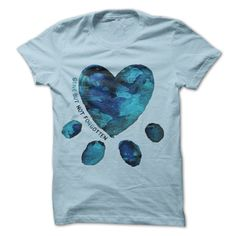 Gone But Not Forgotten Watercolour Heart/Paw Print t-shirt; $21-23USD; available in men's & women's sizes S-XXXL; in four colours; at iHeartDogs.com