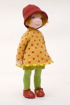 Lena / cloth doll. 400.00, via Etsy.