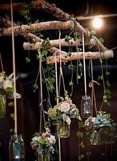 Inspiratie foto's : Hangende berken ladder met decoratie