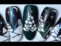 15 Weihnachten und Neujahr Nail Art Designs Nail Art Tutorial Winter 2019 36 B Xmas Nails, New Year's Nails, Holiday Nails, Christmas Nails, Fun Nails, Winter Christmas, Elegant Christmas, Christmas Art, Christmas Ideas