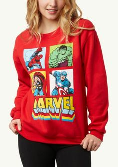 Marvel Grid Sweatshirt | Get Graphic | rue21