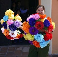 Mexican paper flowers!
