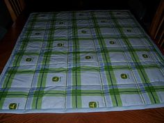 John Deer Baby Quilt by smilingquilter on Etsy, $36.00