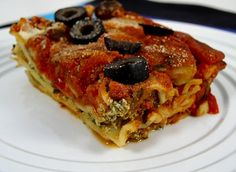 vegan: spinach and mushroom lasagna