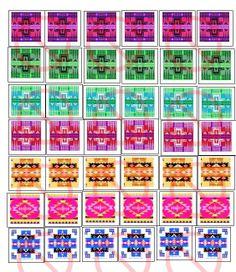 Square Native Print Design 1 Bottle Cap by NiciasAccessories, $2.00