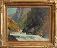 "Alfred R. Mitchell (1888 - 1972), White River, 16"" x 20"", oil"
