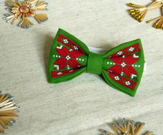 Items similar to Christmas Bow-Tie - Christmas Bow Tie with ornament - Bow-tie with cross-stitch - New Year embroidered bow-tie - Bow-tie for Santa Claus on Etsy Handmade Accessories, Handmade Items, Wedding Accessories, Bow Tie Tattoo, Traditional Bow, Kids Bow Ties, Bow Tie Wedding, Christmas Bows, Wedding Tattoos