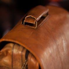 Kipling Leather Messenger Bag in Camel - Vintage Satchel, Laptop Bags for Work, Adventure, and Field