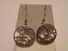 Hummingbird Earrings - Sterling Silver mbmn4