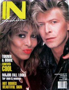 Tina Turner and David Bowie on the cover of In Fashion Magazine in 1987!