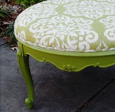 Ottoman Large French Vintage Upcycled