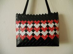 Candy Wrappers, Candy Bags, Recycled Crafts, Origami, Recycling, Shoulder Bag, Handmade, Napkins, Purses