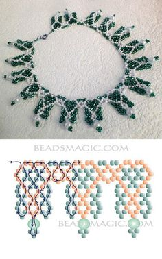 Best Seed Bead Jewelry 2017 Schema for Sweet Berries Necklace Seed Bead Tutorials Beaded Jewelry Designs, Seed Bead Jewelry, Bead Jewellery, Jewelry Making Beads, Jewellery Making, Beading Patterns Free, Beading Tutorials, Free Pattern, Bead Patterns