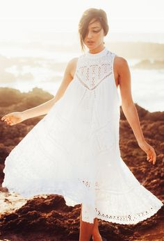 'broderie Anglaise' Sleeveless Dress by Gary Pepper