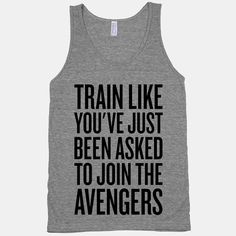 Train Like You've Just Been Asked To Join The Avengers - American Apparel Athletic Grey Tank