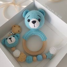Crochet Baby Toys, Crochet Bear, Crochet Gifts, Diy Crochet, Baby Knitting, Baby Crafts, Diy And Crafts, Amigurumi Patterns, Crochet Patterns