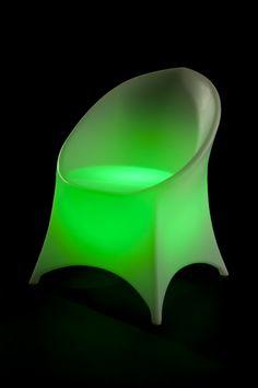 Asiento de resina de polietileno retro iluminado
