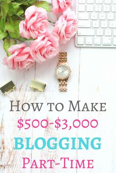 Ready to make money blogging?! Here's exactly how you can make thousands of dollars per month blogging part time!
