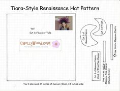 Chelly Wood  Yesterday I showed you a picture of the burgundy-colored doll tiara I planned to make for this week's tutorial. Today I'm going to give you the pattern for it. Remember, when you download my patter...