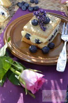 Puddingkuchen mit #heidelbeeren...mmmh!
