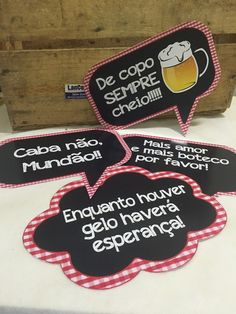 Plaquinhas divertidas Festa de Boteco                                                                                                                                                                                 Mais 50th Party, I Party, Party Time, Adult Birthday Party, Happy Birthday, Party Photo Frame, Drinking Quotes, Party Photos, Holidays And Events