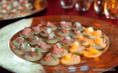 Blinis de salmão defumado e creme fraîche