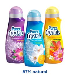 Purex Crystals laundry enhancer: An entirely new way to freshen your laundry. Available in the fabric softener aisle.
