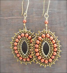 Sun Salutation Beaded Medallion Earrings by HeidiLeeDesign