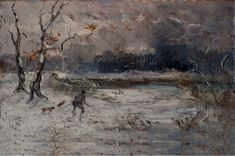 The Athenaeum - Hunter in Winter Landscape (Pompeo Mariani - )
