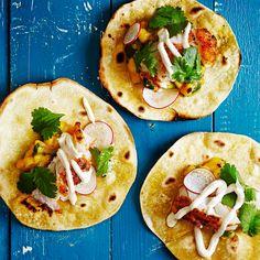 Kalatacot mangosalsalla ja chipotle-kermalla | Glorian Ruoka & Viini