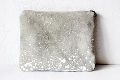 something to go with this... grey silvery suede pouch...