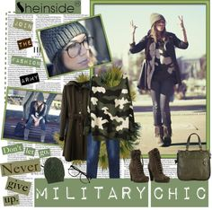 """""""Military Chic"""" by newmoon091 ❤ liked on Polyvore"""
