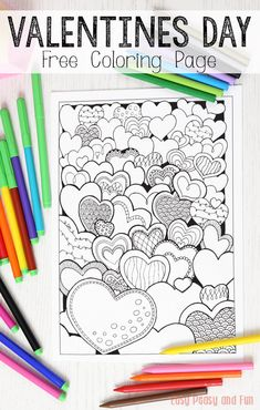 Beautiful Heart Colouring Page for grown ups - a free printable to download and colour. Either enjoy as it is, or turn it into a greeting card for Valetines