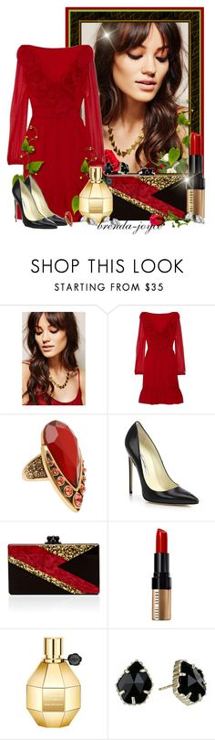 """""""On Fire!"""" by brenda-joyce ❤ liked on Polyvore featuring Forever 21, Dolce&Gabbana, Valentino, Oscar de la Renta, Brian Atwood, Edie Parker, Bobbi Brown Cosmetics, Kendra Scott, women's clothing and women's fashion"""